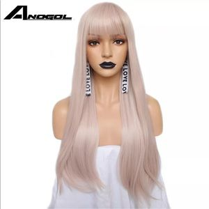 "PASTEL PINK,NATURALLY WAVY,SILKY SOFT 26"" WIG"